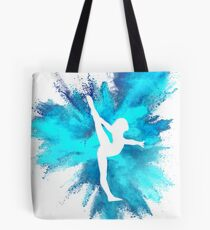 Turner Silhouette - blaue Explosion Tote Bag