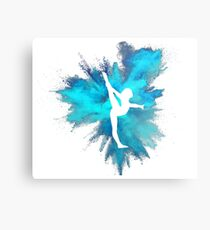 Turner Silhouette - blaue Explosion Metalldruck