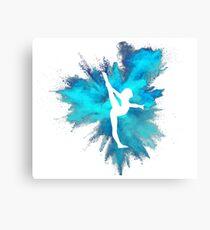 Turner Silhouette - blaue Explosion Leinwanddruck