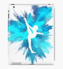 Turner Silhouette - blaue Explosion iPad-Hülle & Klebefolie
