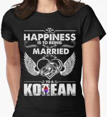 Happiness Is To Being Married To A Korean Tshirt Women's Fitted T-Shirt