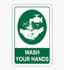 Wash Your Hands Message Sticker