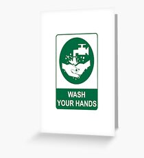 Wash Your Hands Message Greeting Card