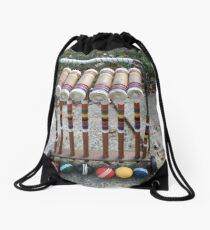 Croquet anyone Drawstring Bag