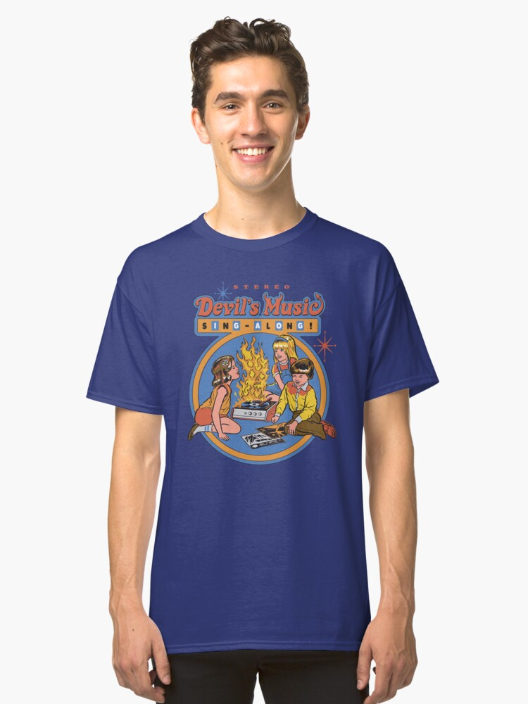 Alternate view of Devil's Music Sing-Along Classic T-Shirt