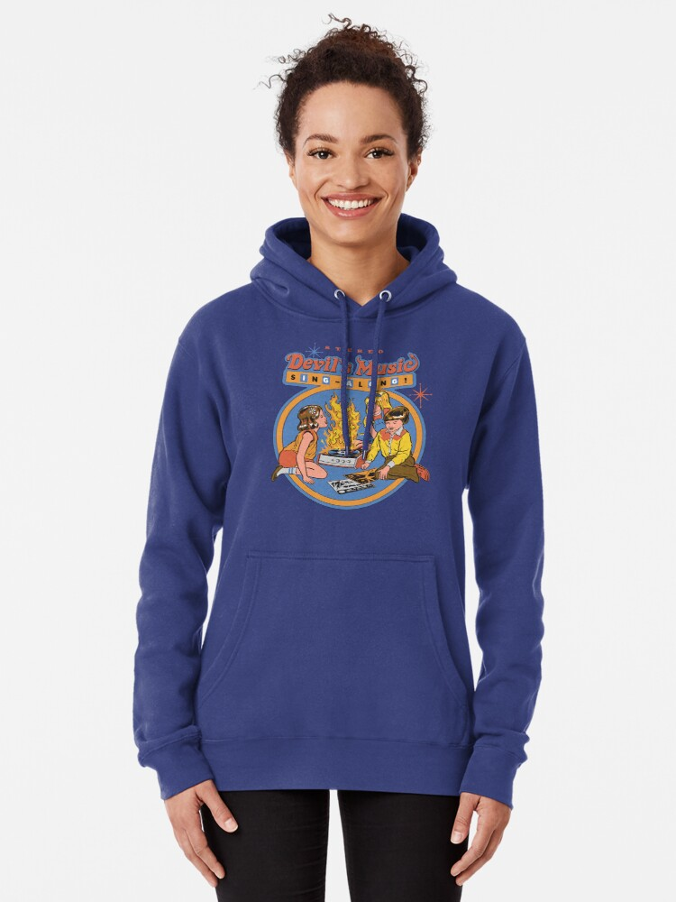 Alternate view of Devil's Music Sing-Along Pullover Hoodie