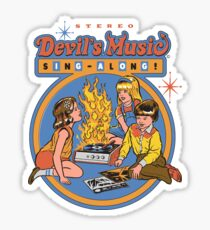 Pegatina Devil's Music Sing-Along