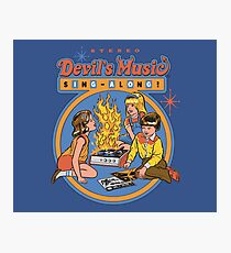 Devil's Music Sing-Along Photographic Print