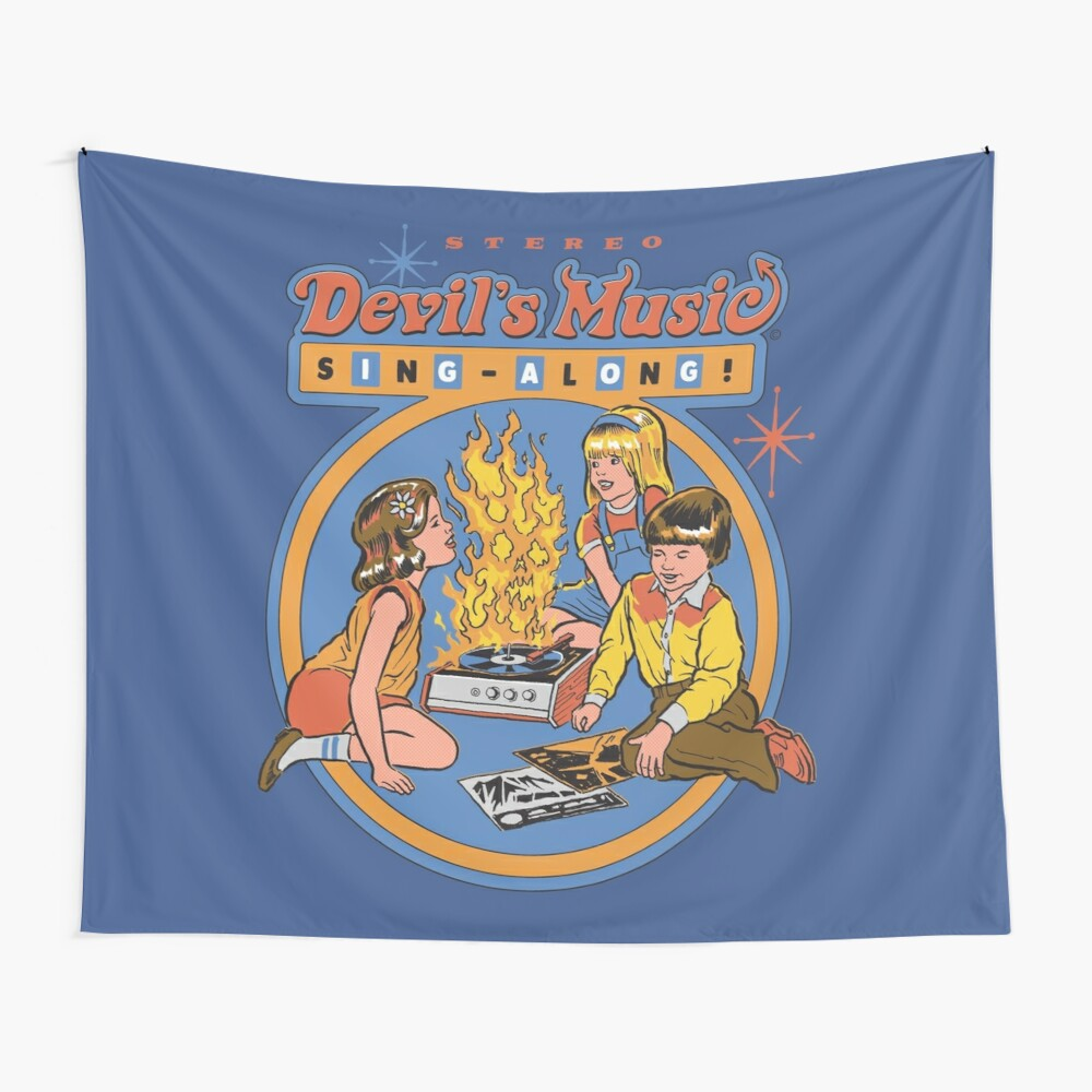 Devil's Music Sing-Along Wall Tapestry