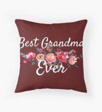 Best Grandma Ever Gift Throw Pillow