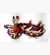 Flamboyant Cuttlefish Poster