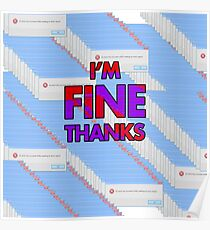 "Error Report ""Fine Thanks"" Products Poster"