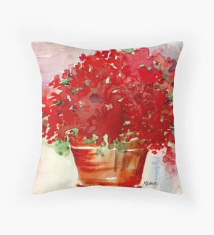 Colour me Red  Throw Pillow