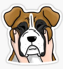 Funny Chubby Cheeks Boxer Sticker