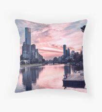 Enjoying Beautiful Melbourne City Throw Pillow