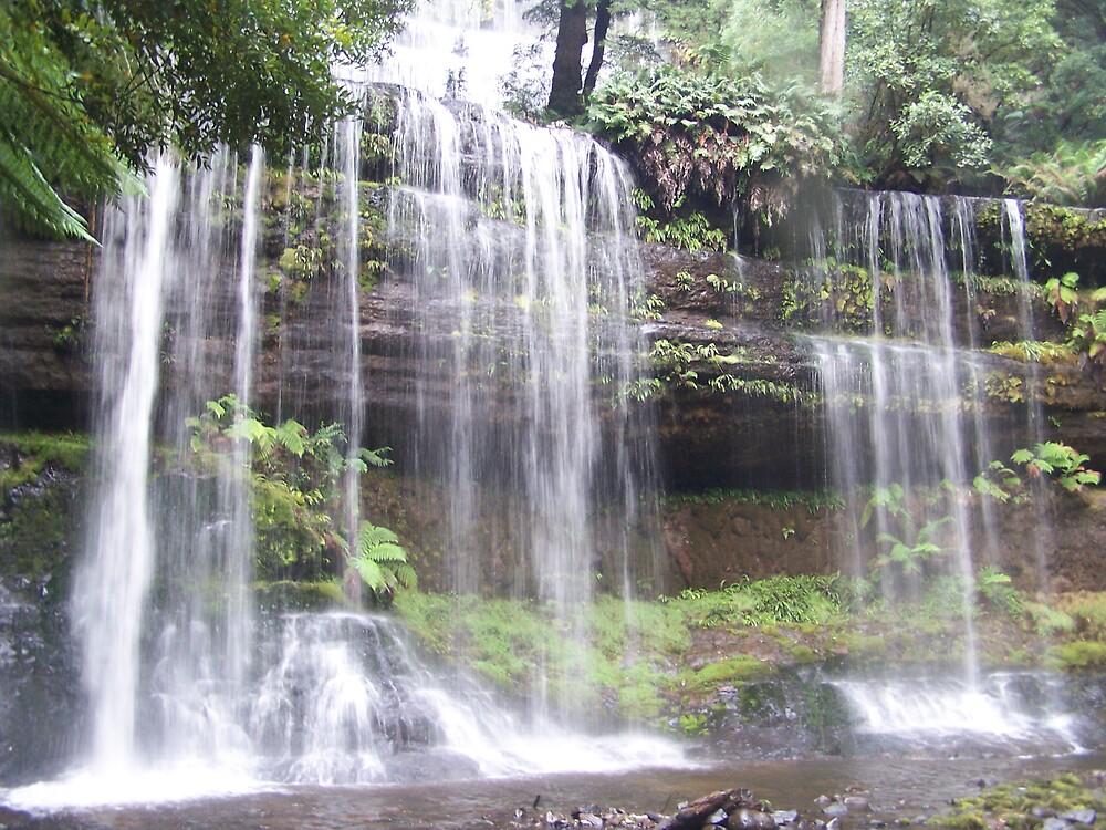 Russell Falls Tasmania by dmajco