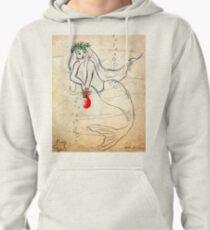 Christmas Mermaid   Retro 1950's    Pullover Hoodie