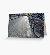 Bicycles in Paris Greeting Card
