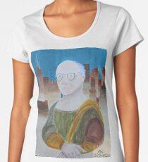Larry David as the Mona Lisa Women's Premium T-Shirt