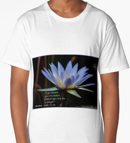 THE BLUE WATERLILY – Nymphaea nouchall Long T-Shirt