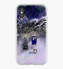 Weihnachten TARDIS iPhone-Hülle & Cover
