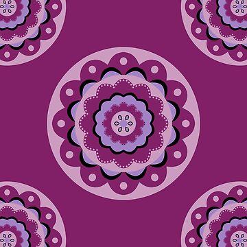 Purple  Mandala Design by cristinadesign
