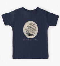 """""""Sail the Ocean Blue"""" Vintage sailing ship, Clipper Ship Kids Tee"""