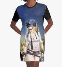 PUBG Girl Graphic T-Shirt Dress