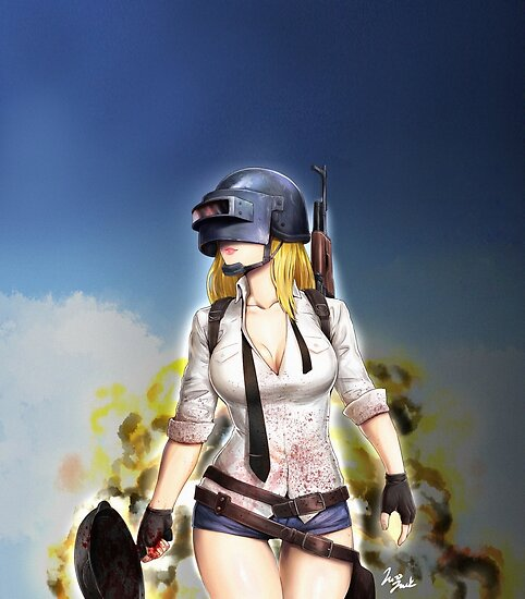 Pubg Girl Posters By Smittychi Redbubble