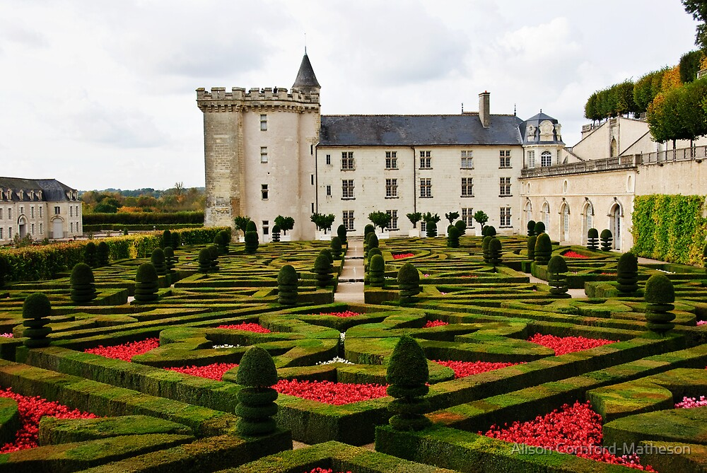 Villandry Castle - Loire Valley - France 2 by Alison Cornford-Matheson