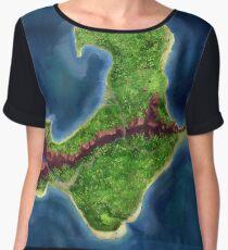 Monkey Island map Women's Chiffon Top