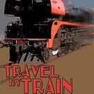 SteamTrainRetroPoster_01A by SEADOGPRINTS