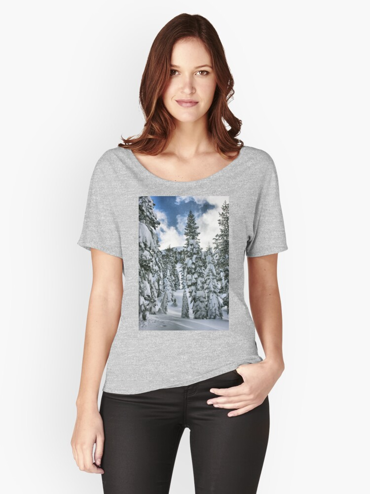 Snow Laden Women's Relaxed Fit T-Shirt Front