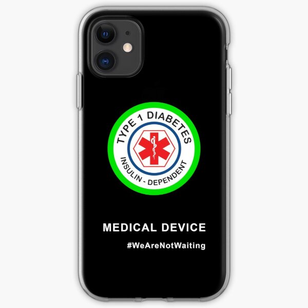 """Medical device"" phone case (black) iPhone Soft Case"