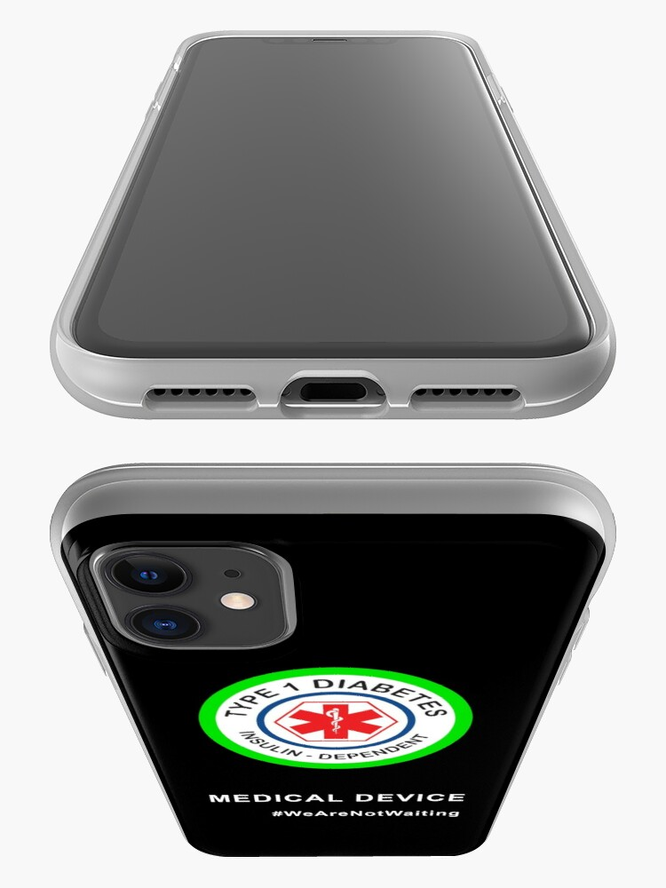 """Alternate view of """"Medical device"""" phone case (black) iPhone Case & Cover"""