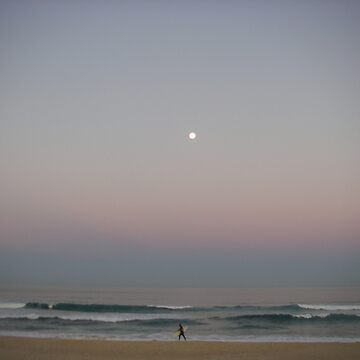 Full Moon & Pacific Ocean by sergiocolour