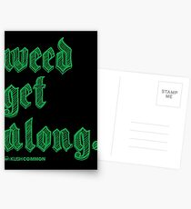 Weed Get Along Postcards