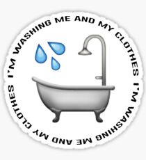 Washing me and my clothes vine Sticker