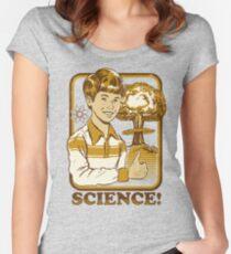 Camiseta entallada de cuello ancho ¡Ciencia!