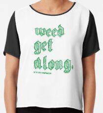 Weed Get Along Chiffon Top
