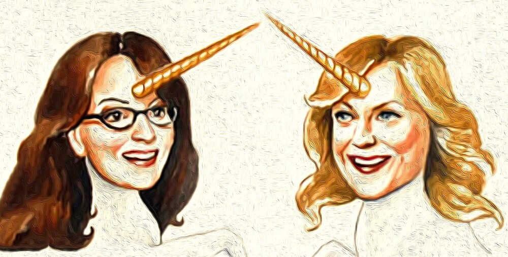 Tina and Amy as Unicorns  by #PoptART products from Poptart.me