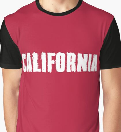 California Distressed Letters Graphic T-Shirt