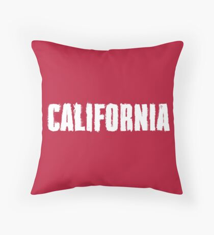 California Distressed Letters Throw Pillow