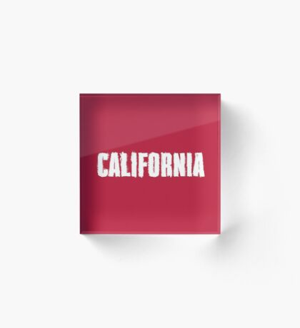 California Distressed Letters Acrylic Block