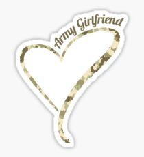 Proud Army Girlfriend - Army GF Camouflage Sticker