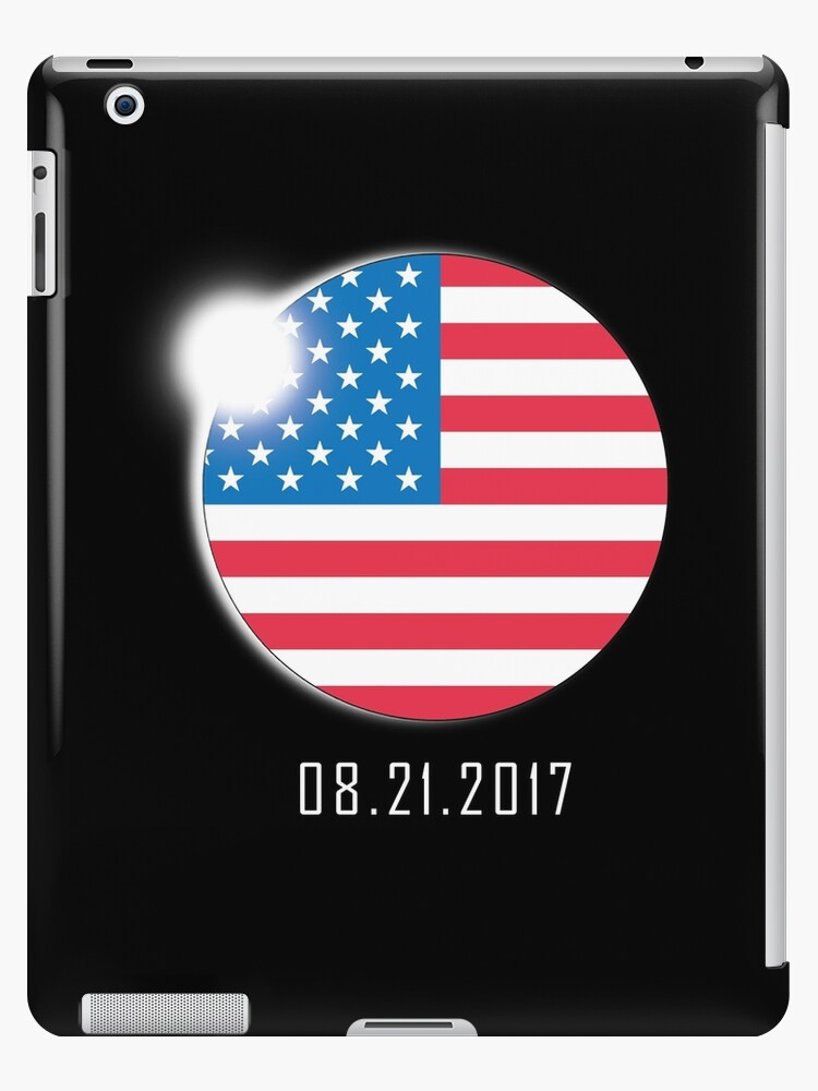 Total Solar Eclipse August 21 2017 USA American Flag  by BUBLTEES