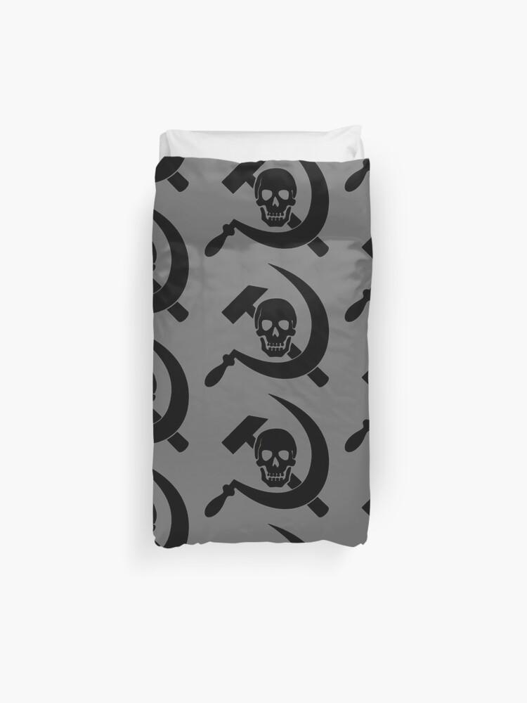 Skull Hammer Sickle - Black | Duvet Cover