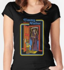 Timmy has a Visitor Women's Fitted Scoop T-Shirt