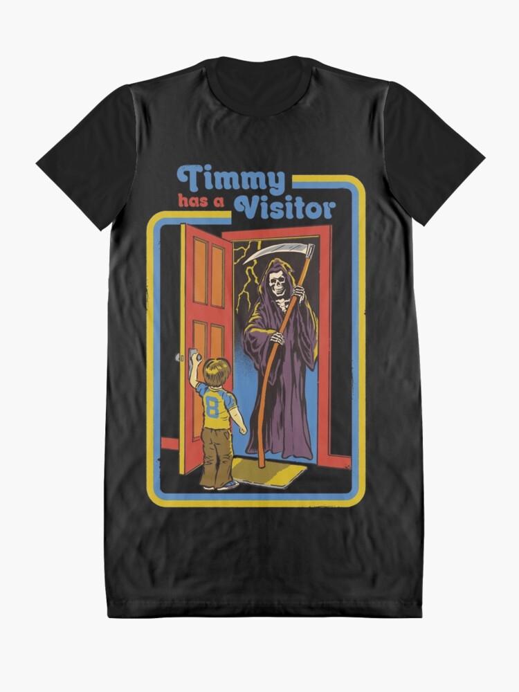 Alternative Ansicht von Timmy hat einen Besucher T-Shirt Kleid