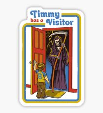 Timmy has a Visitor Sticker